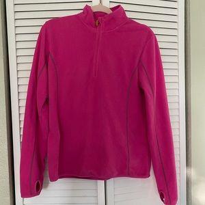 H&M sport fleece pink zip up jacket pullover
